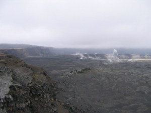 "Photo I took of the eerie panorama of Mt. Kilauea's Caldera, which made me think of the opening Canto to Dante's ""Inferno""!"