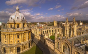 The Bodleian Library's distinct dome graces Oxford's inspiringly neoClassical skyline