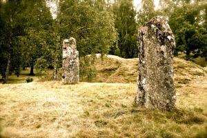 Burial mound, north Götland, Sweden