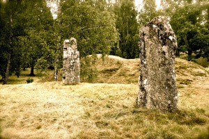 Burial mound, north Götland, Sweden