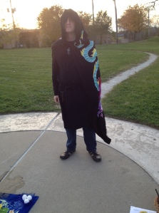 My bodacious beau robed n' ready for the FOI Samhain ritual in the cemetery!
