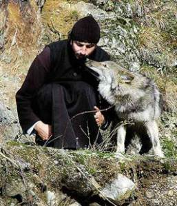 A monastic man's best friend! Monastir Lepavina, Serbia