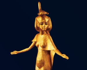 Stunning gold figure of Selqet found in the Pharaoh Tutankhamun's tomb.