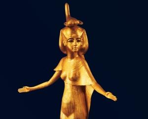 Stunning gold figure of Selqet found in the Pharaoh Tutankhamun's tomb.