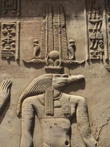 The crocodile god Sobek at the temple of Kom Ombo, Upper Egypt