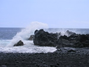 Somewhere on Oahu: inner torment, meet the tormented Pacific.