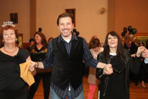 At St. George's this past New Year's Eve, dancing the Serbian