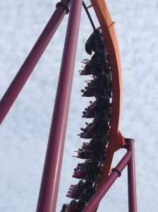 Raging Bull rollercoaster at Six Flags Great America, Gurnee, IL. Taken 6/17/15