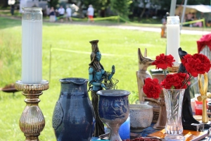 Shrine honoring Nephthys, Anubis, and Horus I brought with me to PSG last year. My neighbors and passers-by frequently joined me during my daily devotionals.