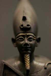 Late Period bronze statue of Osiris now in the Louvre.
