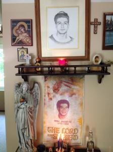 My parents' shrine to my brother in their home.
