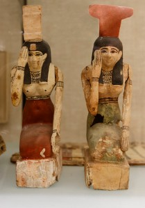 The sorrowing Isis and Nephthys.