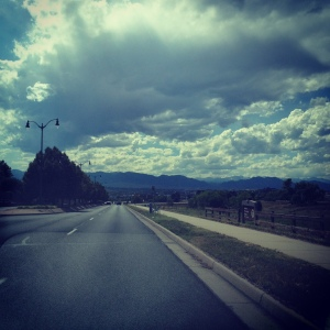 The skies over Westminster, Colorado, as Daniel and I drove into the soulscape of his past.