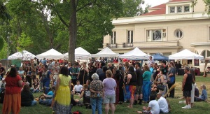 That's me in the blue dress on the left, co-facilitating the main ritual at Chicago Pagan Pride on September 8, 2013, which was also my 40th birthday!
