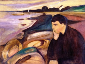 """""""Melancholy"""" (1894) by Edvard Munch, one of my favorite artists. Image courtesy of the Munch-Museet, Oslo, Norway."""