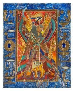 """Sekhmet, Eye of Ra"" by Ptahmassu Nofra-Uaa. Used with permission."