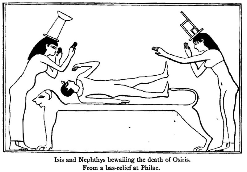 Isis-and-Nephthys-crying-over-body-of-Osiris